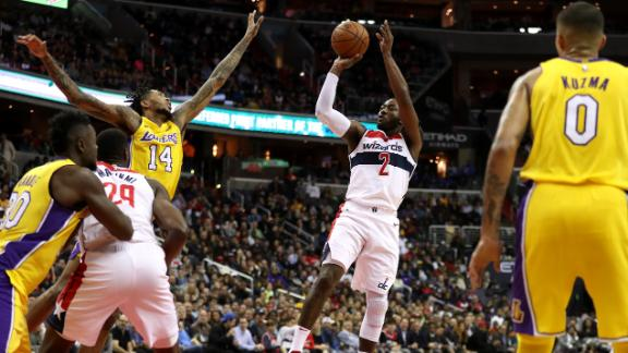 Wall leads Wizards past Lakers