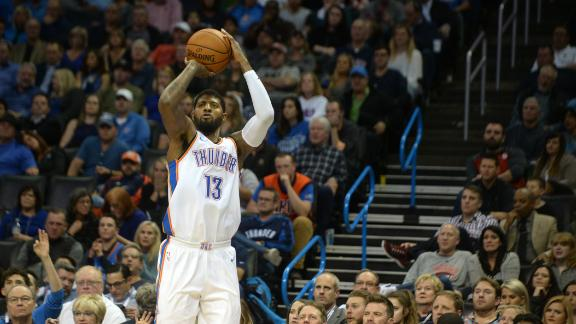 George dominates as Thunder snap losing streak