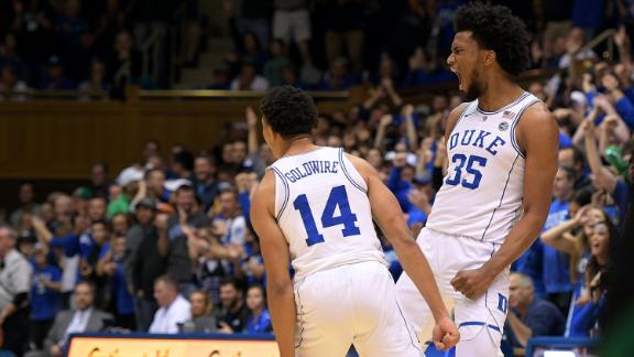 Duke cruises behind Bagley's big game
