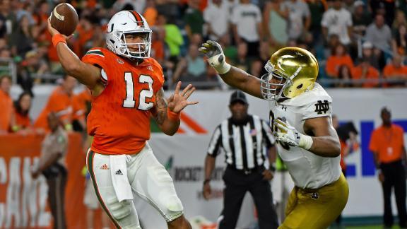 Miami dominates Notre Dame