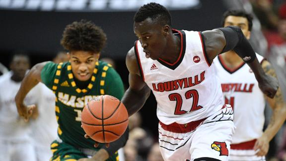 Louisville wins after lackluster first half