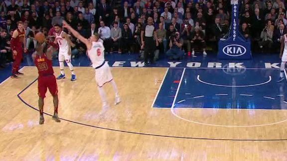 LeBron drains go-ahead 3 over Kristaps