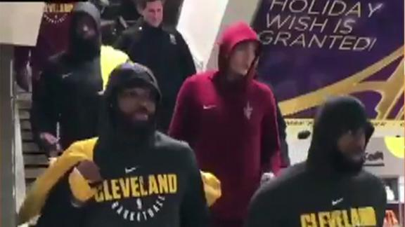Cavs ride the subway in NYC