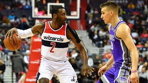 Wall leads Wizards past Kings
