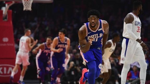 Embiid, 76ers edge Clippers