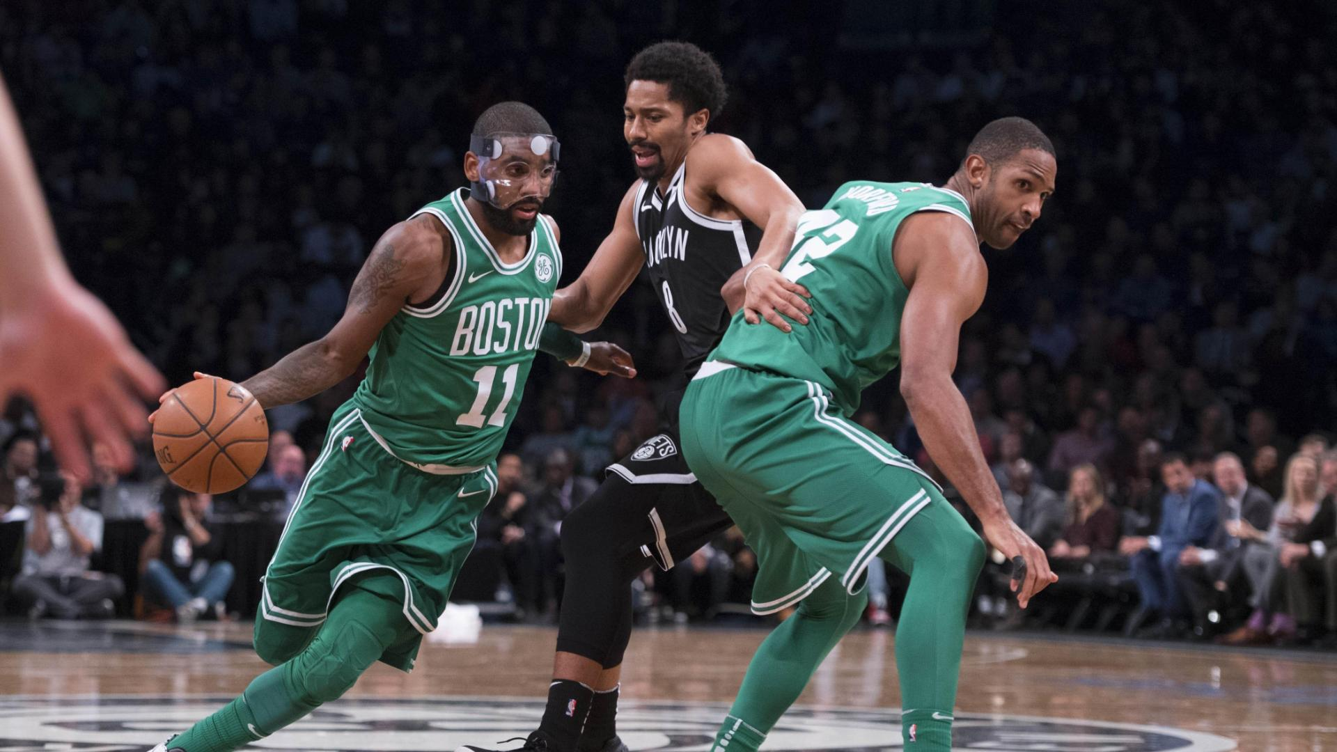 Masked Kyrie leads C's to 13th straight win