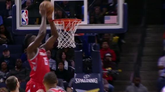 Harden, Capela catch Grizzlies sleeping on alley-oop