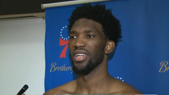 Embiid's goal was to foul Drummond out