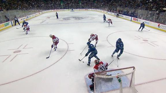 Vanek tips in power-play goal in win