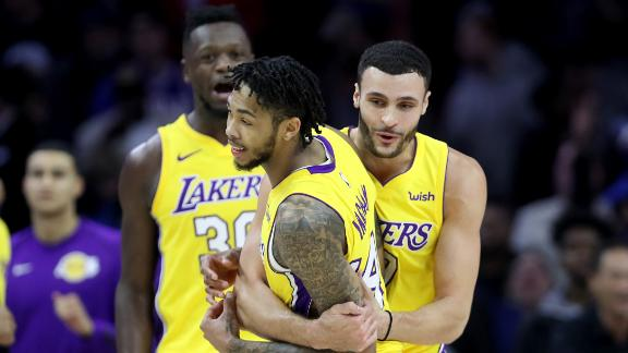 Ingram hits game winner to propel Lakers in Phily