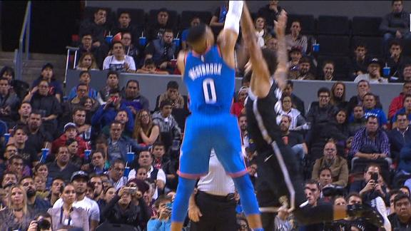 Westbrook nails jumper to earn 3-point play