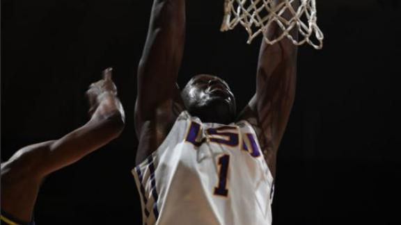 LSU secures 97-84 win over UNC Wilmington