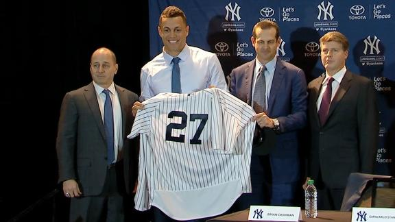 Stanton excited to be a Yankee