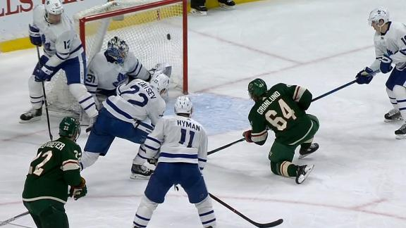 Granlund's one-timer leads Wild past Maple Leafs