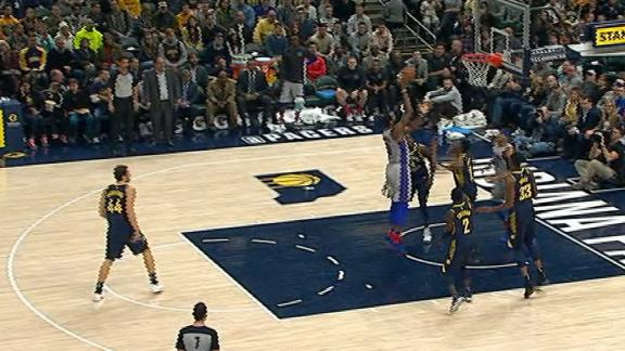 Drummond gets offensive rebound and score on three consecutive possessions