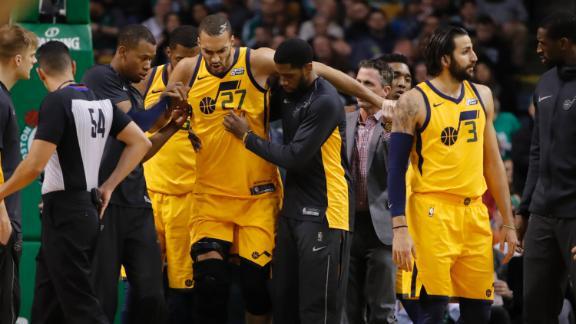 Jazz lose Gobert, beat ice-cold Celtics