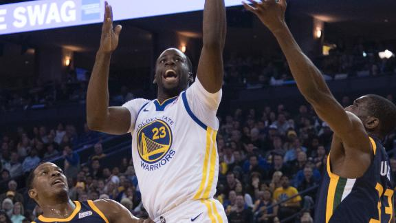 Warriors use big second half to beat Jazz