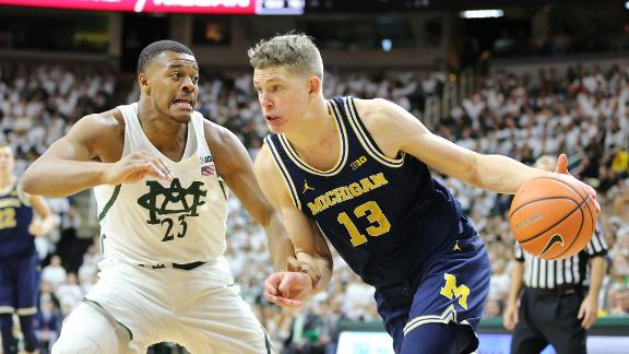Michigan upsets No. 4 Michigan State