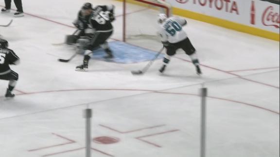 Donskoi sets up Tierney for the Sharks' goal