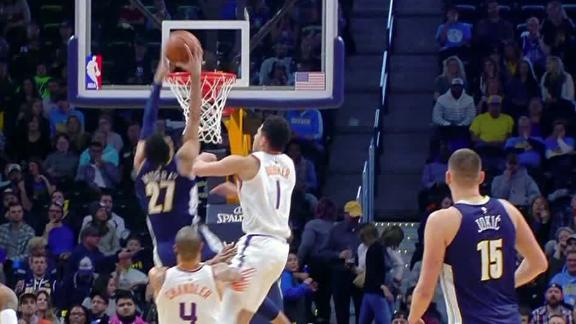 Murray dunks and flexes on Booker