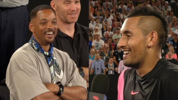 Kyrgios' win gets Will Smith's seal of approval
