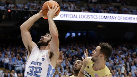 Maye's double-double helps UNC to 4th straight win