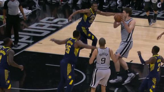 Parker sets up Gasol for three straight buckets