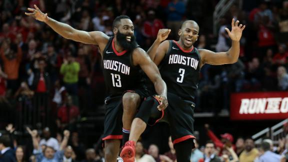 Harden, CP3 lead Rockets past Heat