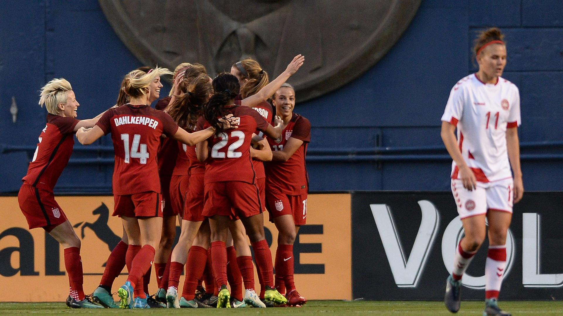 United states 5 1 denmark uswnt open 2018 in style captions preview publicscrutiny Image collections