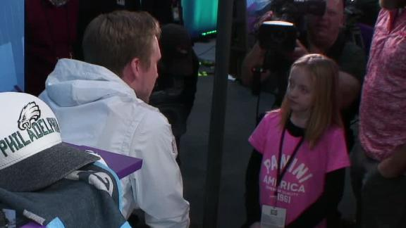 Foles answers young girl's question