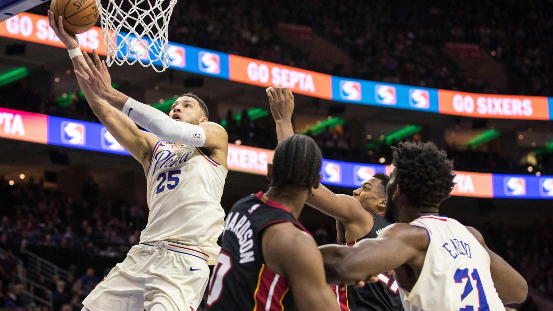 76ers beat Heat to snap skid