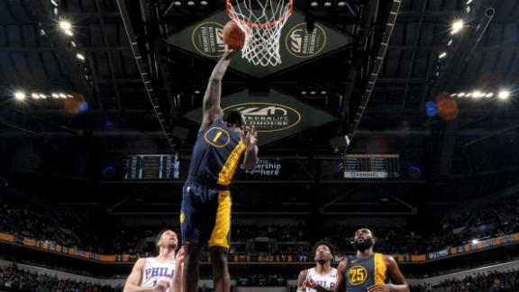 Stephenson spurs Pacers past 76ers