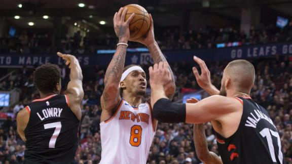 Knicks get blown out in first game without Porzingis