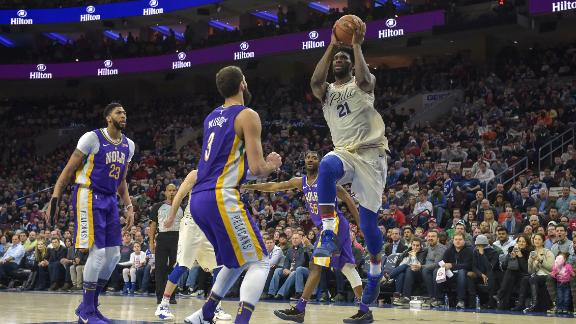 Embiid delivers big performance in win over Pelicans