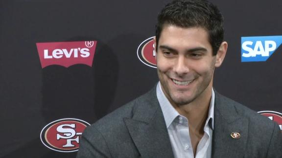 Garoppolo happy to be on 49ers for long time