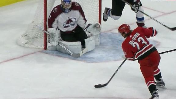 McGinn leads Hurricanes to 3-1 win