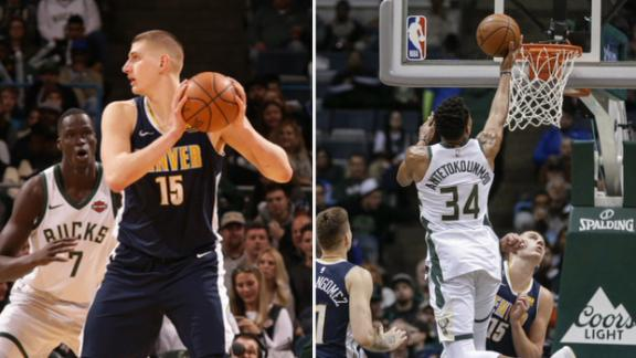Giannis and Jokic drop triple-doubles in duel