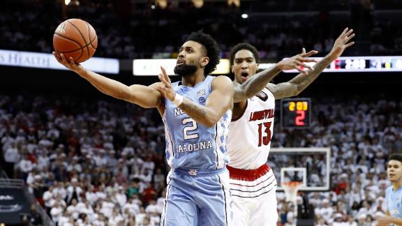 Tar Heels roll past Louisville