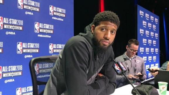 Lakers fans show love for PG during presser