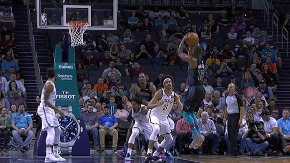 Kemba crosses Allen and hits jumper