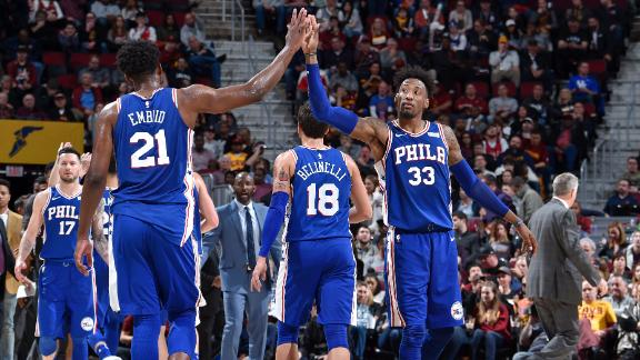 76ers top LeBron, Cavs