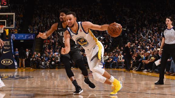 Curry shines in the Warriors' victory
