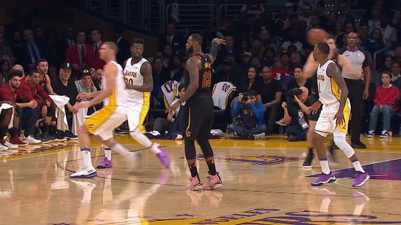 LeBron casually fakes out three Laker defenders