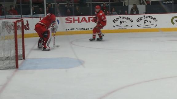 AHL goalie scores on empty net