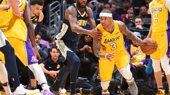 Lakers hold off Nuggets for home win