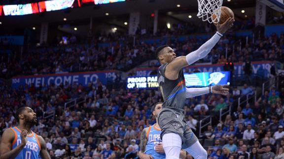 Versus Clippers, Thunder had 30 assists for just fourth time this year