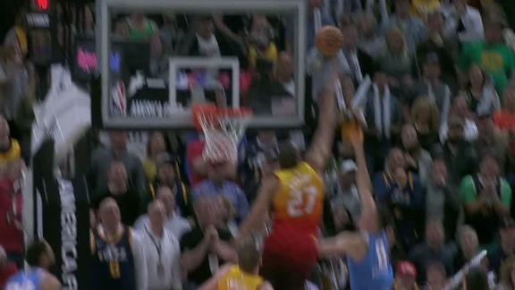 Gobert comes up with clutch late-game block