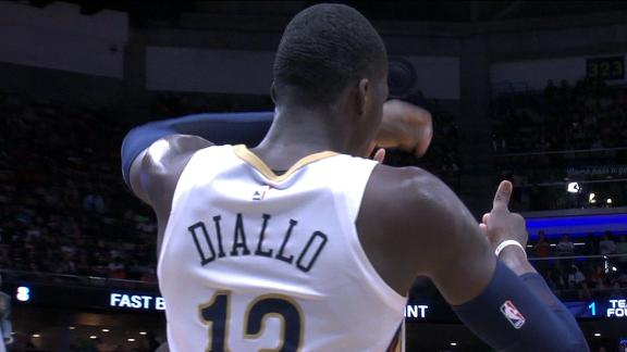 Diallo blocks Harden then mocks his celebration