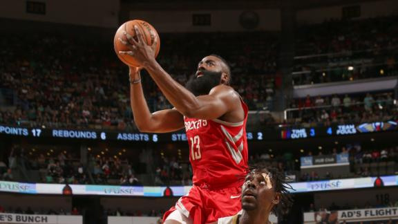 Harden drives Rockets to another W