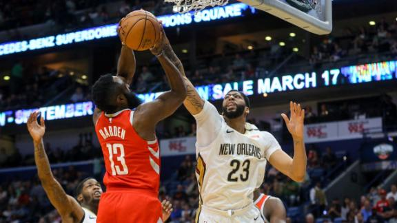 Harden wins clash with Davis